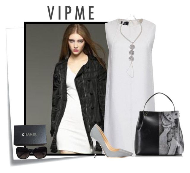 """""""VIPMe 8"""" by elenb ❤ liked on Polyvore featuring Post-It, Jimmy Choo, Chanel, women's clothing, women, female, woman, misses, juniors and fab"""