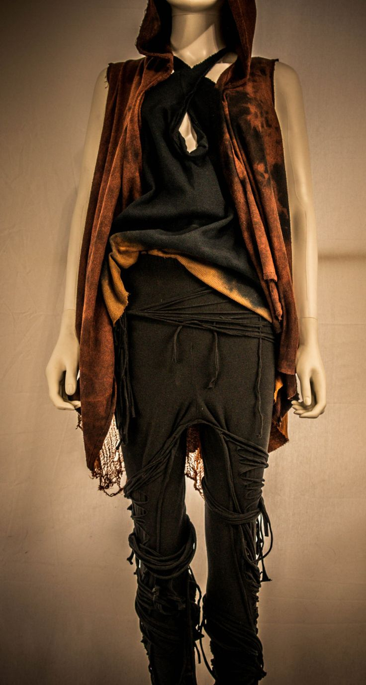 Wasteland Weekend Mad Max Fury Road Costume Post Apocolyptic Fashion Distressed Leggings and Hoodie by SexismIsOver on Etsy