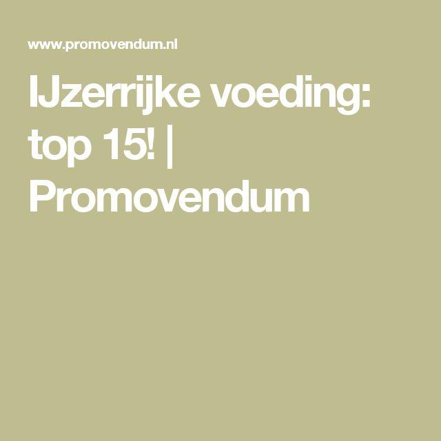 IJzerrijke voeding: top 15!   Promovendum