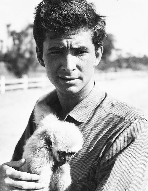 Anthony Perkins & Friend