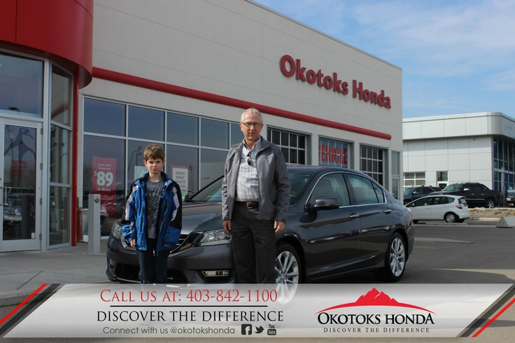 The Pratt Family and their Honda Accord - thanks to Harry Loewen. Welcome to the OH Family! Call Okotoks Honda at 403.842.1100 for your vehicle and maintenance needs.