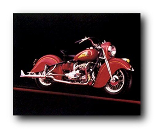 Give your home a stylish touch with this beautiful vintage Red Indian motorcycle picture art print poster. This poster is a wonderful selection for every motorcycle lover. It would be a perfect addition for any teen age boy bedroom who may inspired by motorbikes. Hurry up! Buy this wonderful piece of art for its durable quality with high degree of color accuracy which ensures protect your image for years to come.