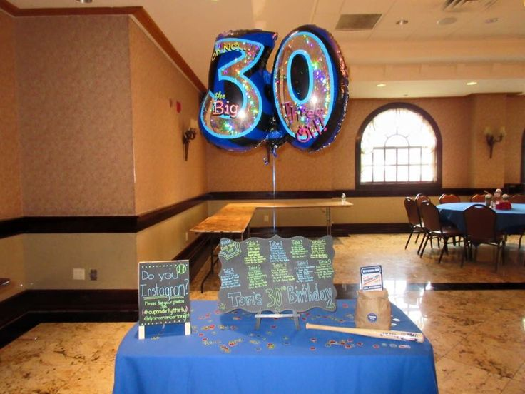 Dirty thirty seating chart, entrance table, baseball themed party, mets theme