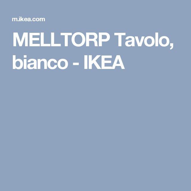 MELLTORP Tavolo, bianco - IKEA