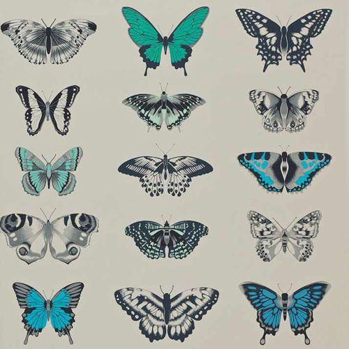 Härligt färgstark fjärilstapet från kollektionen Amazilia 111078. Klicka för att se fler inspirerande tapeter för ditt hem!