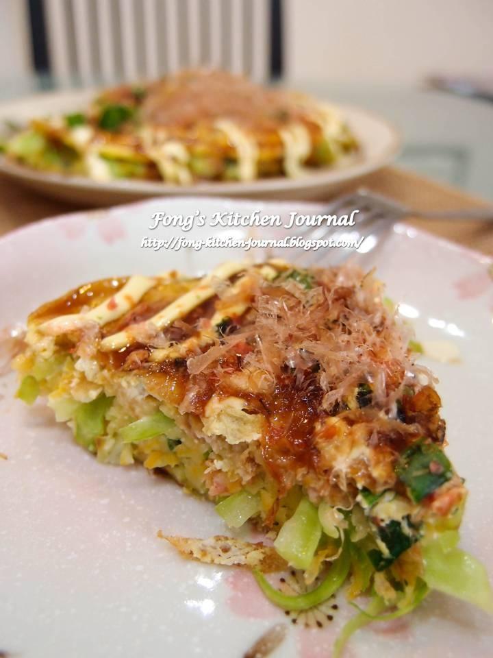 Okonomiyaki ~ Japanese Savory Pancake | Food - Japanese | Pinterest ...