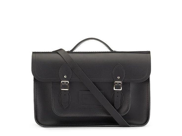Cambridge Satchel 15 Inch Classic Batchel in Leather - Black