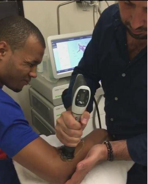 Chris Eubank Jr is having acupuncture treatment for hypertension of the arm ahead of IBO world title fight against Renold Quinlan