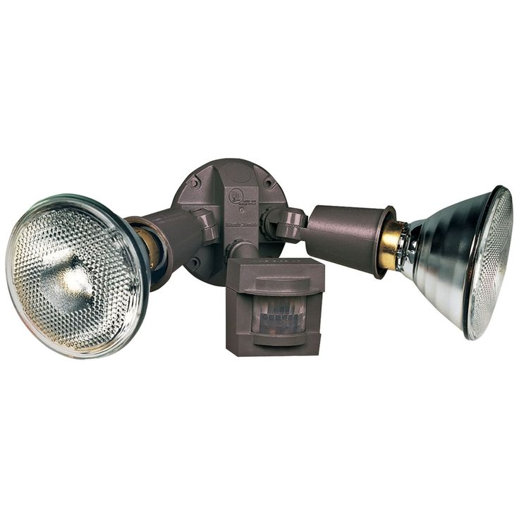Twin-Flood Bronze Motion-Sensing Halogen Security Light - Style # 1X310