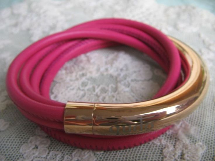 Qudo Nappaleder Armband * Doppio Big * pink roségold * Wickelarmband echt Leder