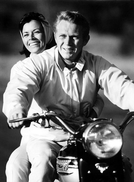 Once more...Steve McQueen on a Triumph.