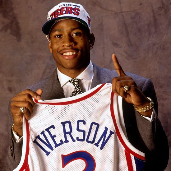 Allen Iverson | Allen Iverson began his career as the #1 pick of the 1996 NBA Draft ...