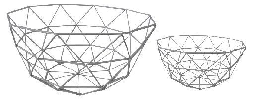 Geometric Wire Baskets (Set of 2).