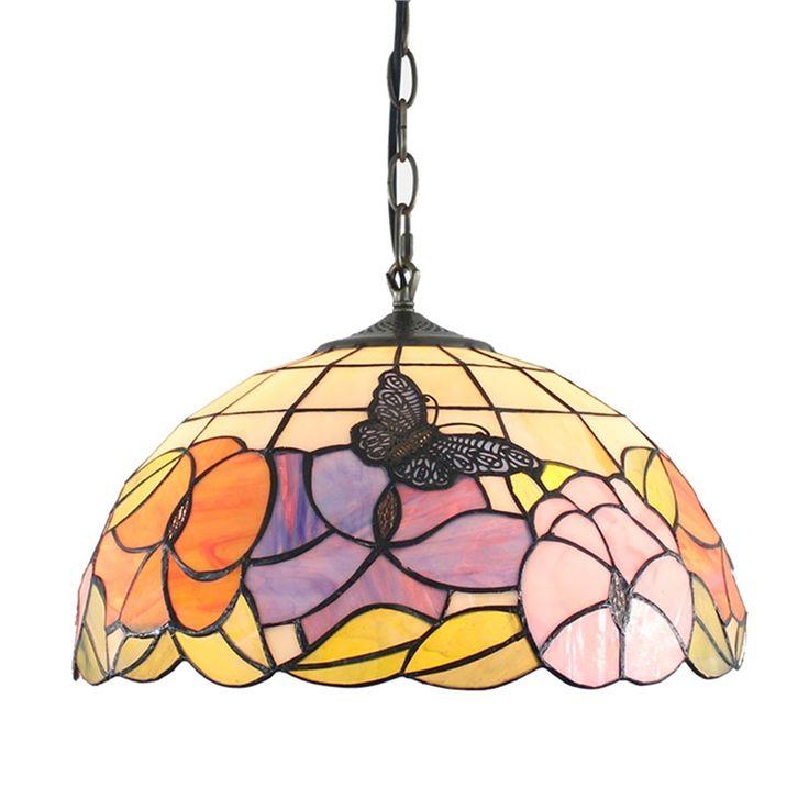 ステンドグラス照明 ペンダントライト ティファニーライト 照明器具 2灯 D40cm SPL-035