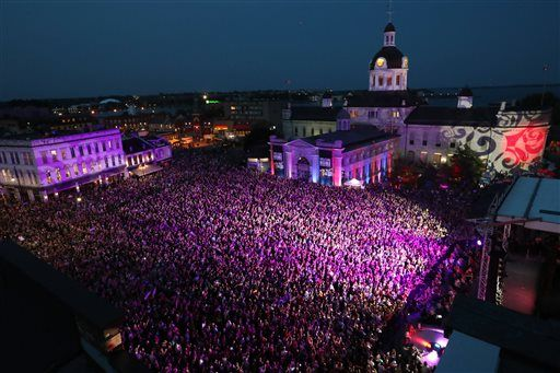 KINGSTON, Ontario (AP) — The rock concert did not begin with a rock song…