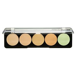Make-Up Forever Brand from Sephora and Ulta. They make the best concealers on earth!  Mix and match from this palette to get the perfect color for your skin tone.  Staying power is incredible!