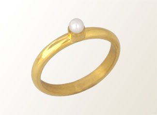 MELIO - Contemporary Jewelry ~ Less Is More ~ goldplated silver , pearl