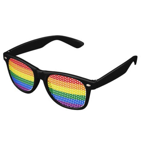 RAINBOW FLAG COLORS  your ideas Retro Sunglasses #rainbow #accessories