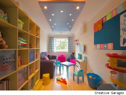 This playroom was a garage in its former life. I love this room for its simplicity. It is bright, cheerful and welcoming