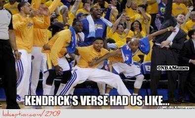 The Warriors respond to Kendrick's Verse! - http://weheartlakers.com/lakers-meme/the-warriors-respond-to-kendricks-verse