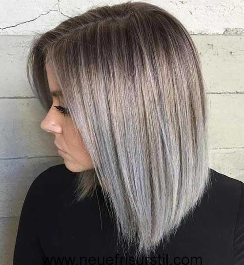 Kurze Silber Ombre Haarfarbe