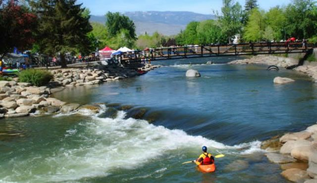 The Truckee River White Water Park, located in the heart of Reno, is a great place for adventure seekers to explore!
