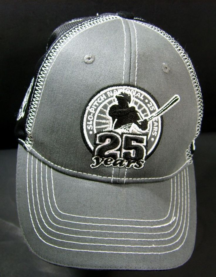Slo-Pitch National 25 Years Velcro Back Ball Cap Collector Hat