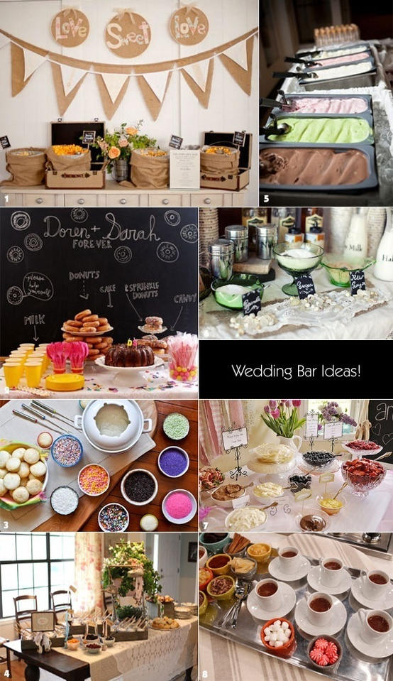 Wedding bar ideas wedding ideas pinterest wedding for Coffee bar at wedding reception