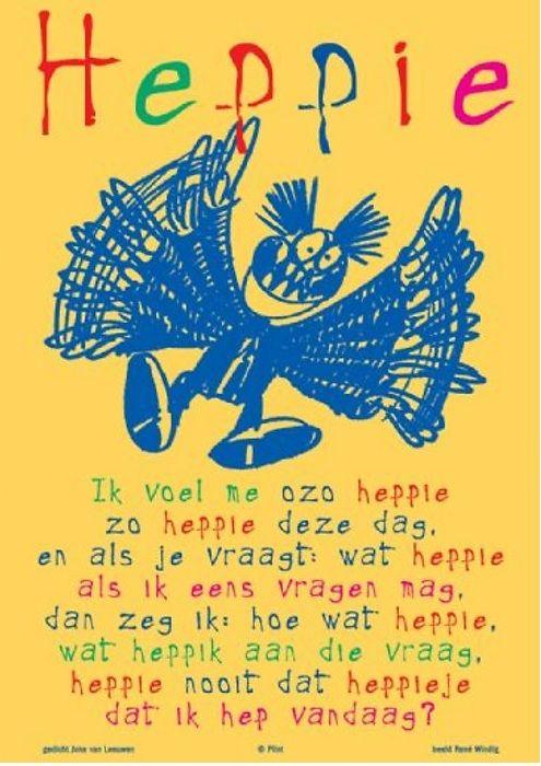 Gewoon zo heppie..gedicht van Joke van Leeuwen