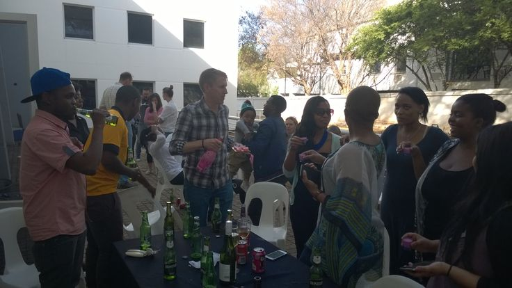 """Only real men can drink pink drinks"" - they say #TeamBuilding #BraaiDay"