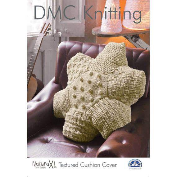 DMC Natura XL Knitting Pattern. Textured Cushion Cover. cushion knitting pattern, DMC pattern, textured cushion