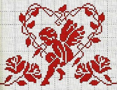 Punto croce - Schemi e Ricami gratuiti: Raccolta di schemi a punto croce a tema cuore-amore