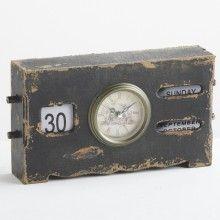 Винтажные настольные часы DIALMA BROWN в деревянном корпусе с ручным календарем  во французском стиле конца XIX века Цвет Как на фото Материал Дерево, Металл Стиль Винтаж Объем 0,006 м3 Артикул:  BH2497