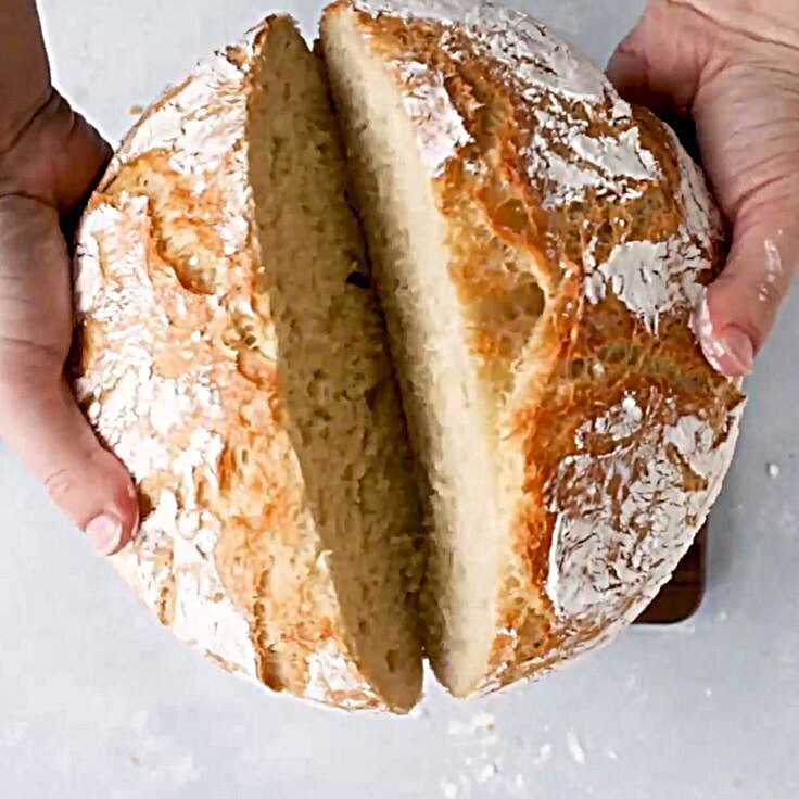 Easy dutch oven bread ready in just a few hours - no ...