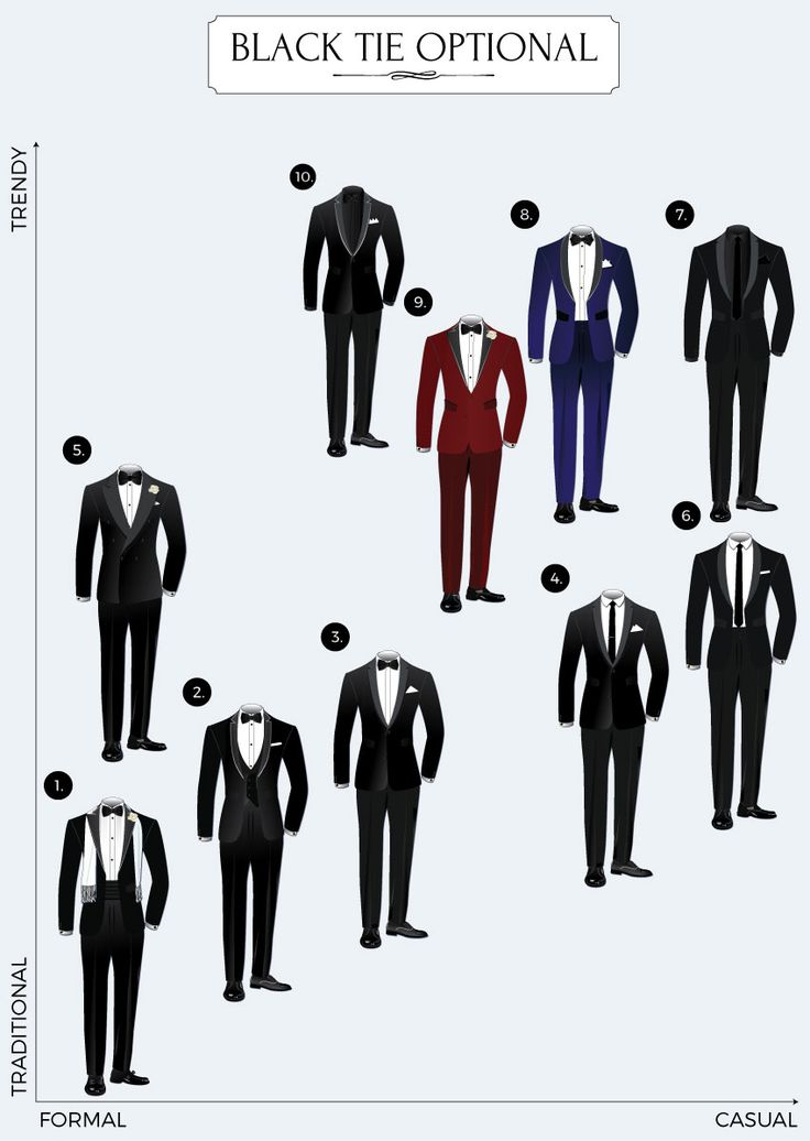 Black Tie Optional Dress Code Guide | Bows-N-Ties.com
