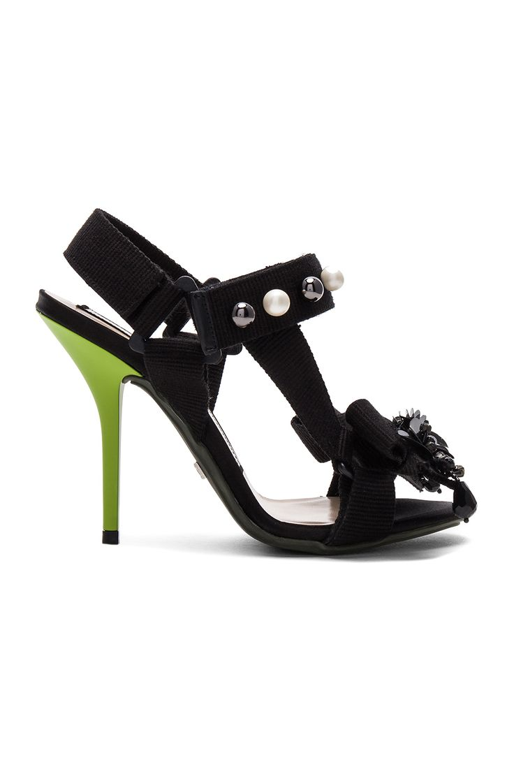 No. 21 Marble Heel in Nastro Nero | REVOLVE