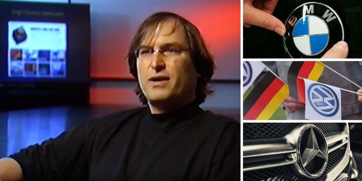 """""""Das Dilemma der Auto-Industrie erklärt von Steve Jobs (*ersetze Pepsi, IBM, Xerox durch BMW, Audi, VW, Daimler)"""", schreibt Richard Gutjahr."""