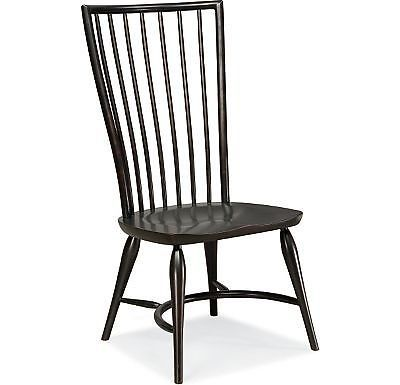 Set Of 2 Thomasville Furniture Cinnamon Hill Black Side Chairs 42729 845