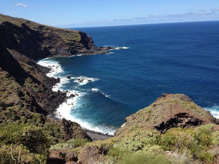 Einsamer Strand im wild-romantischen Nordwesten der Insel La Palmas.