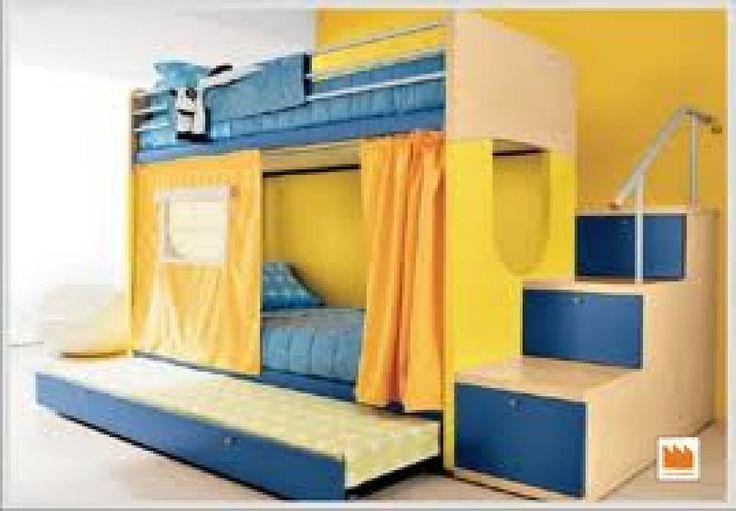 Cama de dos pisos con escritorio google search camas - Camas modernas para ninos ...