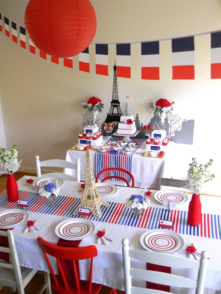 Love this French birthday party - so many lovely ideas and photos