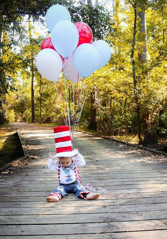 Baby boy Dr. Seuss 1st Birthday Boy outfit . Check out our Amazing By EllenBaby Dr. Suess outfit, It has a CAT IN THE HAT Bow Tie with Birthday