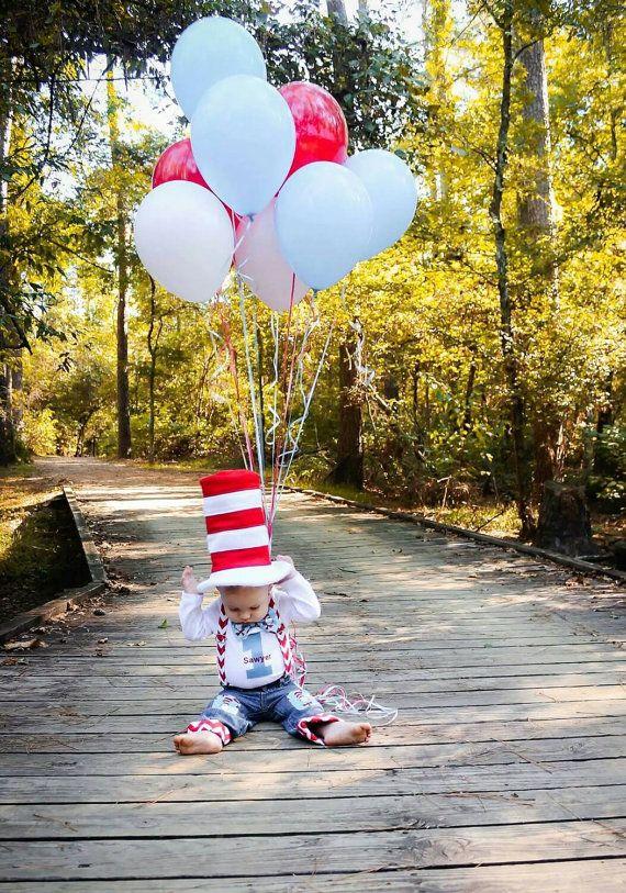 Dr. Seuss Baby Boy 1st Birthday Shirt & Knee patch by ByEllenBaby