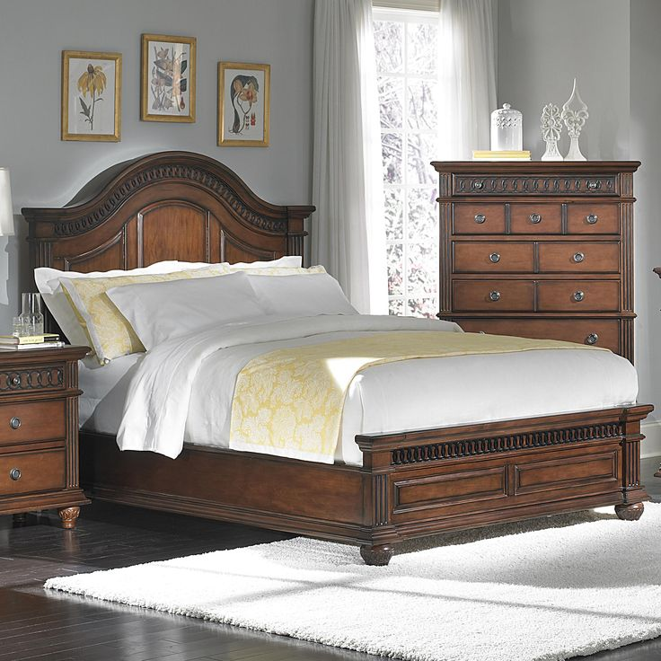 Wonderful St Clair King Arched Panel Bed With Carved Wooden Accents By New Classic  {King Bed Good Ideas