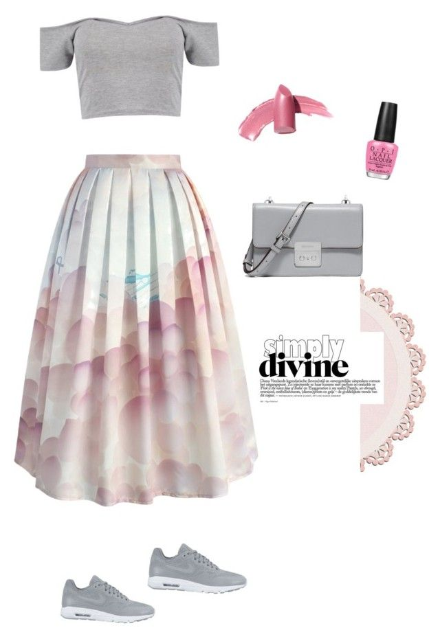 """""""Simply pink"""" by dieppham on Polyvore featuring Chicwish, NIKE, MICHAEL Michael Kors, OPI and Elizabeth Arden"""