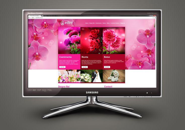 Webdesign for a flower shop.