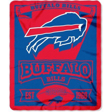 NFL Buffalo Bills 50 inch x 60 inch Fleece Throw, Multicolor