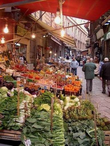 La Vucciria, Palermo, Sicily, Italy: one of the most beautiful scenes that always comes to mind when I think of Sicily.