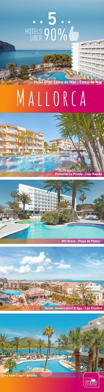 Du willst nach Mallorca? Wir haben die schönsten Hotels, mit den besten Bewertungen für Dich rausgesucht. 90% Weiterempfehlung und mehr! Auf nach Mallorca!