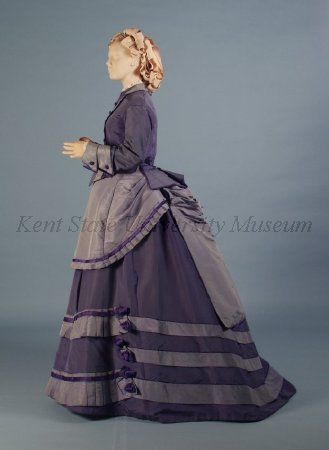 Day dress, ca 1870, Kent State